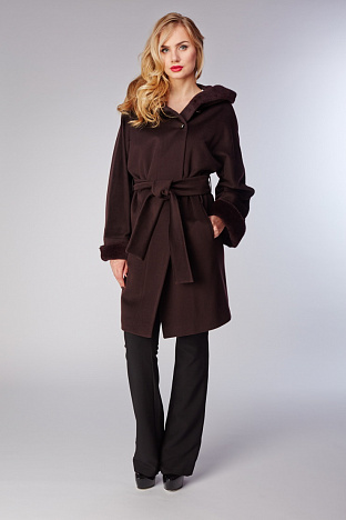 d258dca0c47 Купить женское комбинированное пальто в интернет магазине ПокупкаЛюкс